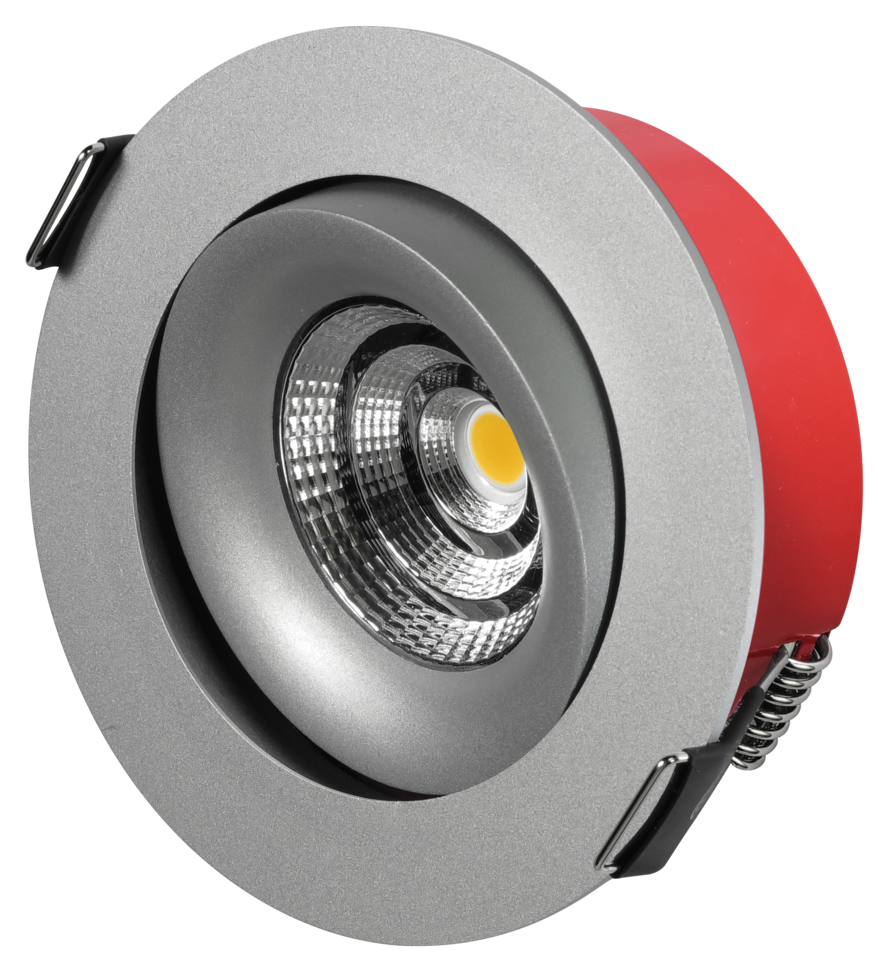 Bright Tilt LED Downlight - Alu