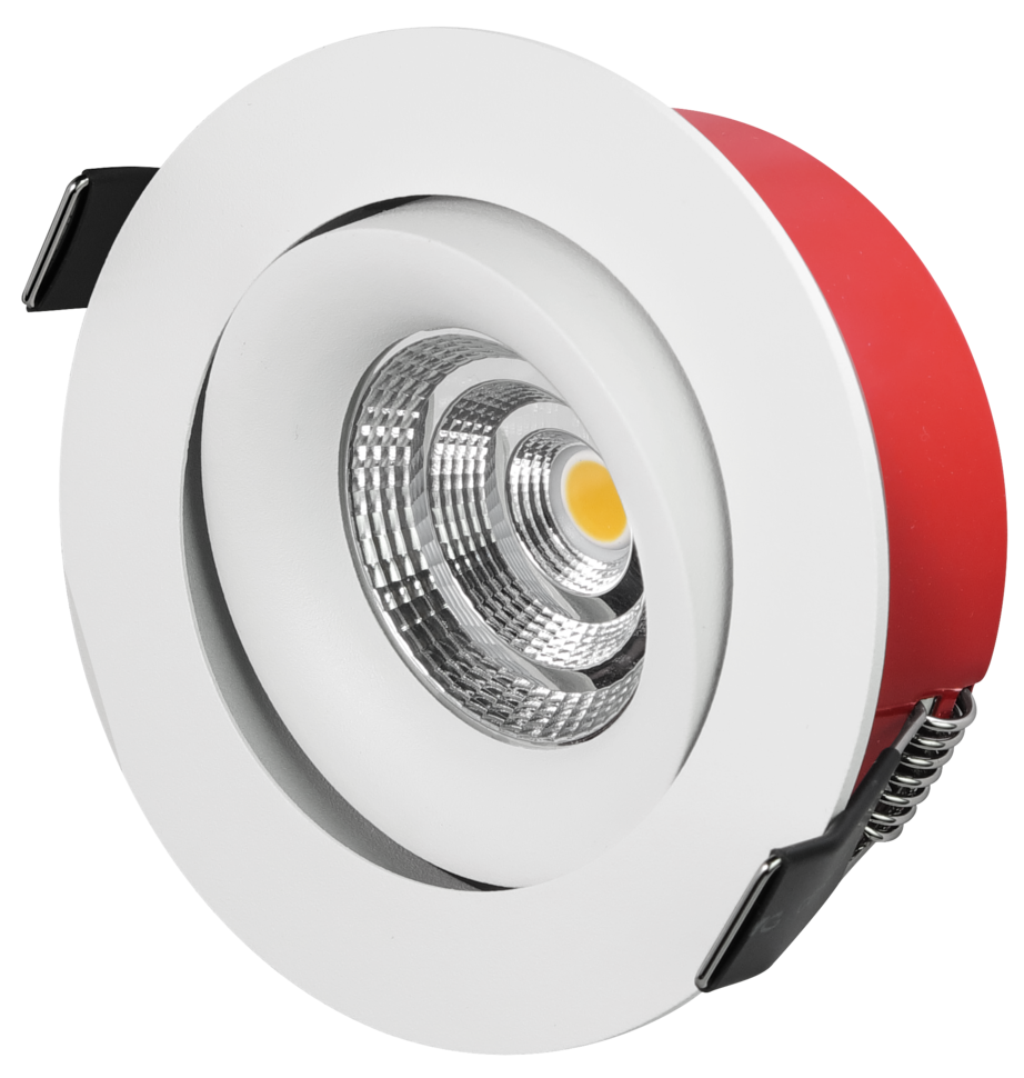Bright Tilt LED Downlight - Hvit
