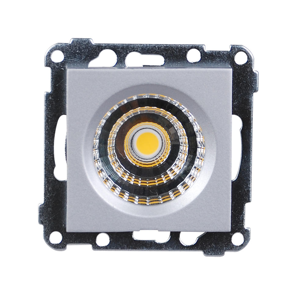 LED Downlight 5W for ramme - Alu