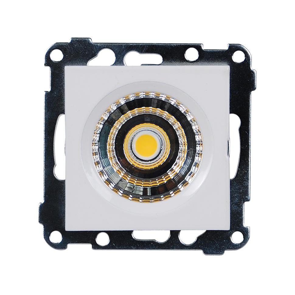 LED Downlight 5W for ramme - Hvit